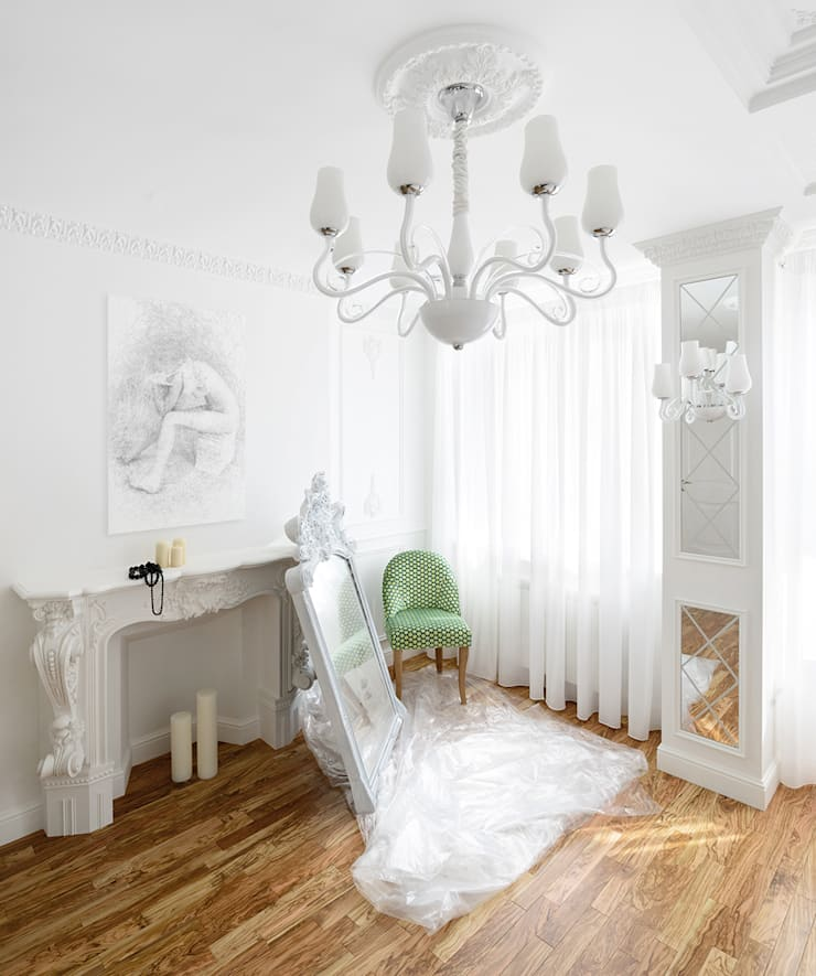 """квартира """"Белый шум"""": Спальни в . Автор – 'Живые вещи 'Максимовых- Павлычевых'"""