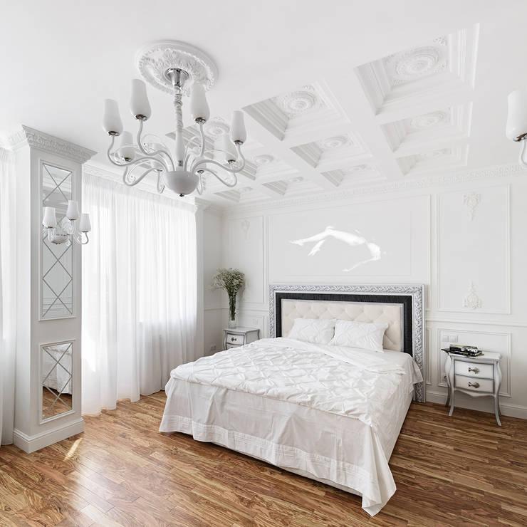 квартира <q>Белый шум</q>: Спальни в . Автор – 'Живые вещи 'Максимовых- Павлычевых'