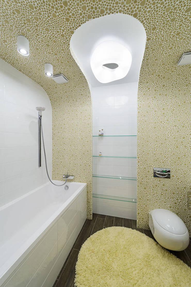квартира <q>Капсула</q>: Ванные комнаты в . Автор – 'Живые вещи 'Максимовых- Павлычевых'