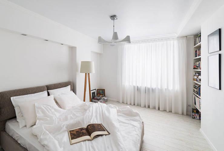 квартира <q>Дом для художника</q>: Спальни в . Автор – 'Живые вещи 'Максимовых- Павлычевых'