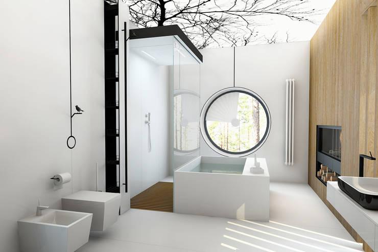 В сосновом бору...: Ванные комнаты в . Автор – Архитектурное Бюро Патрушевых
