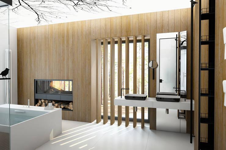В сосновом бору… : Ванные комнаты в . Автор – Архитектурное Бюро Патрушевых