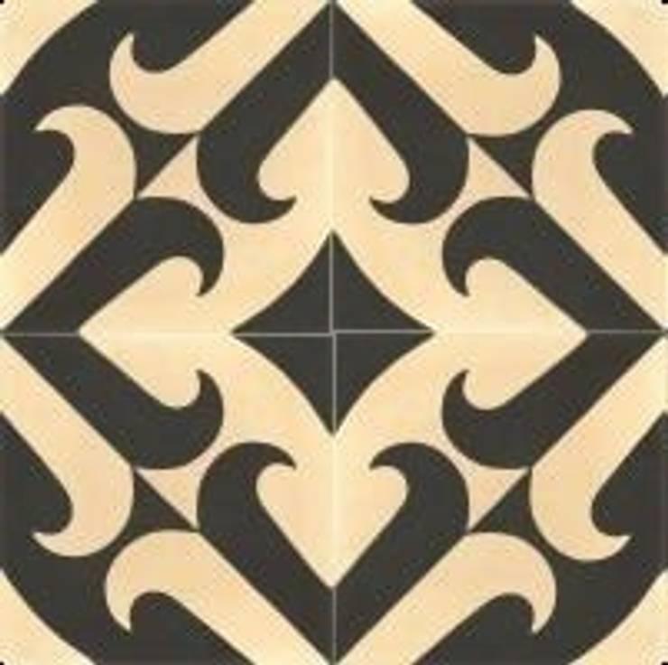 ANDONI - cementowe płytki podłogowe : styl , w kategorii Ściany i podłogi zaprojektowany przez Kolory Maroka