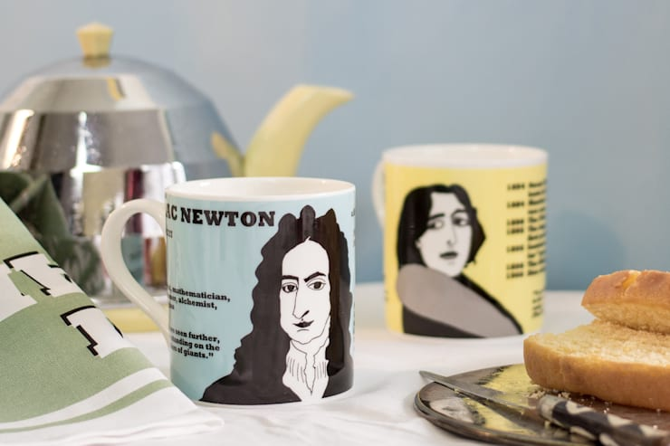 Isaac Newton and Oscar Wilde mugs:  Kitchen by Cole of London