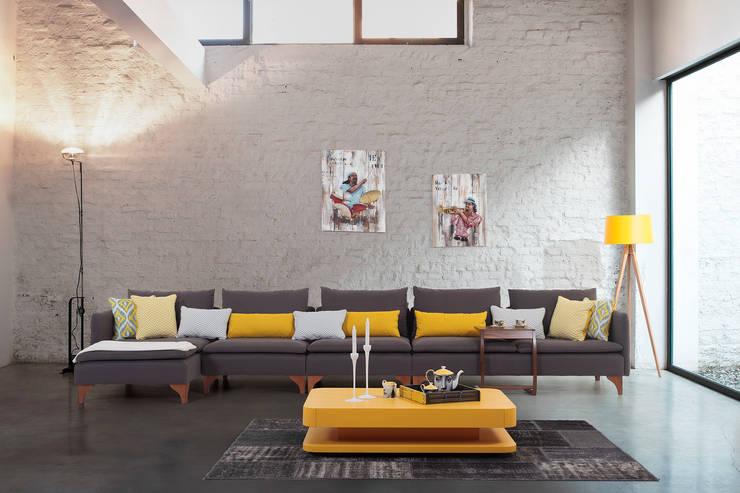 Trabcelona Design – Lecos  corner:  tarz Oturma Odası