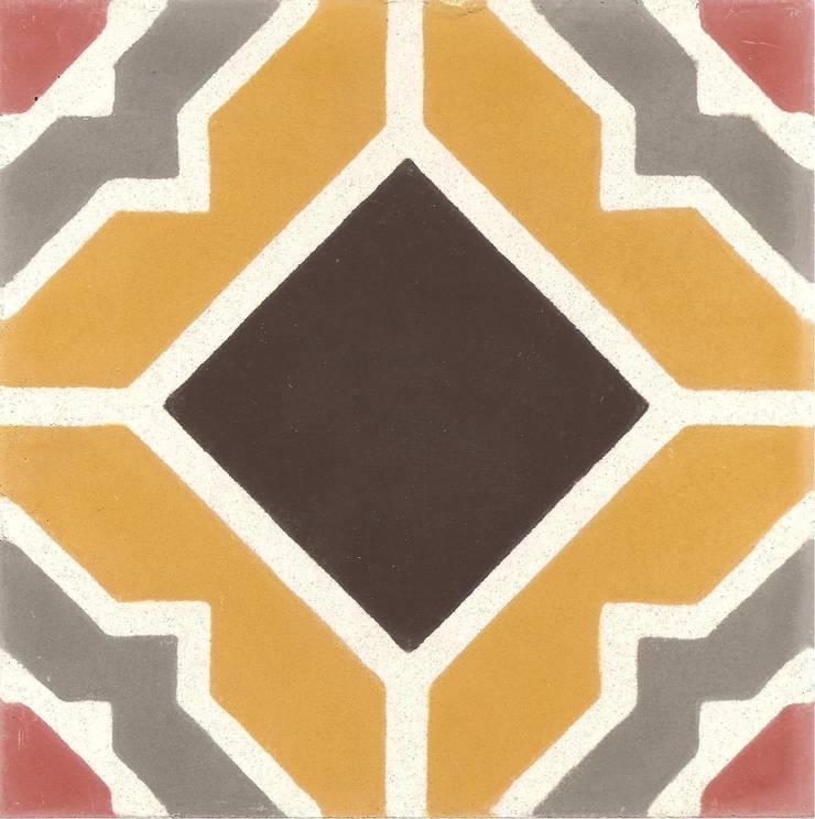 ARRU - cementowe płytki podłogowe: styl , w kategorii Ściany i podłogi zaprojektowany przez Kolory Maroka