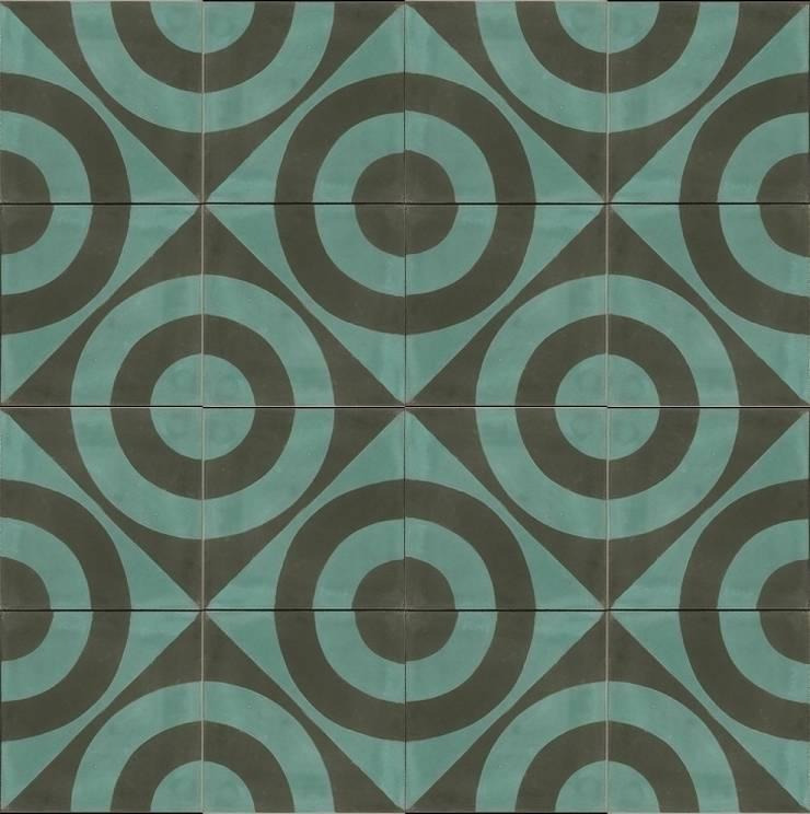 ANDRES - cementowe płtyki podłogowe: styl , w kategorii  zaprojektowany przez Kolory Maroka,Śródziemnomorski