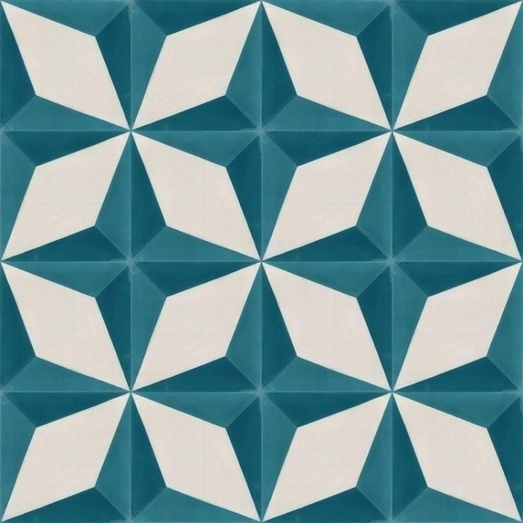 ANGEL - cementowe płytki podłogowe: styl , w kategorii Ściany i podłogi zaprojektowany przez Kolory Maroka