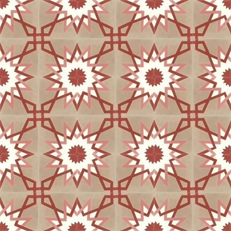 BENAT - cementowe płytki podłogowe: styl , w kategorii  zaprojektowany przez Kolory Maroka,Śródziemnomorski