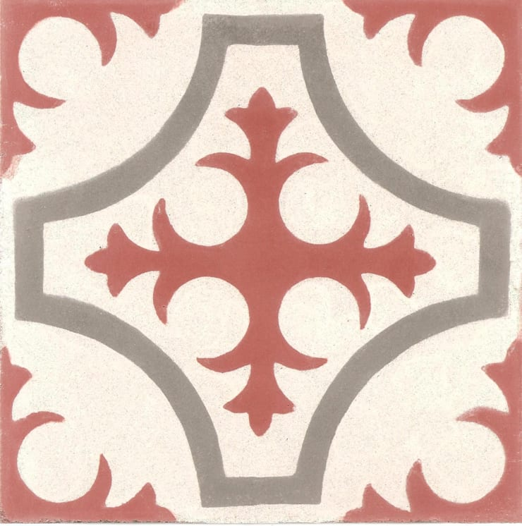BORJA - cementowe płytki podłogowe: styl , w kategorii Ściany i podłogi zaprojektowany przez Kolory Maroka,
