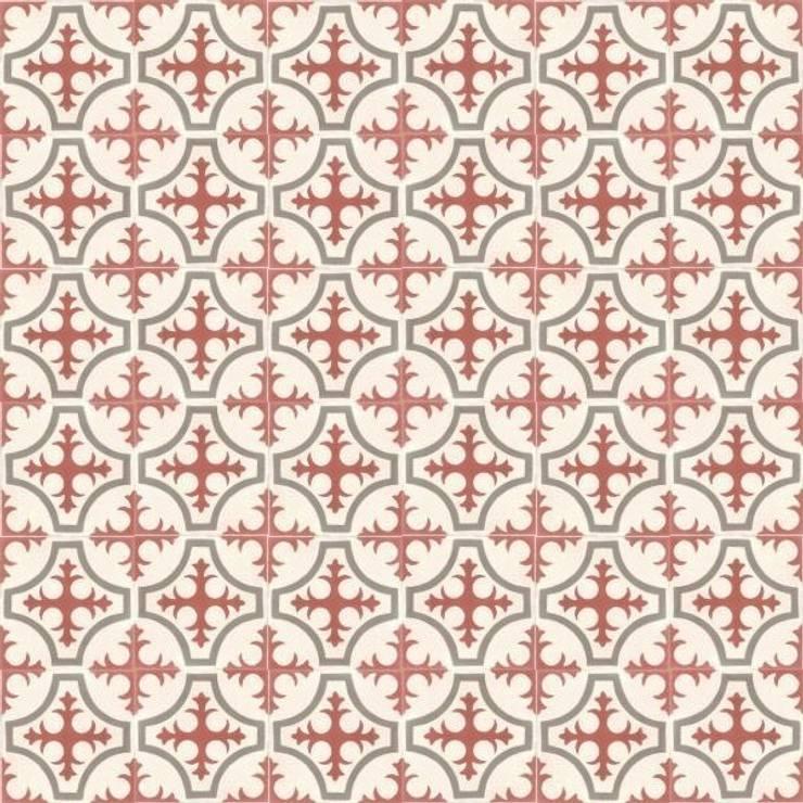 BORJA - cementowe płytki podłogowe: styl , w kategorii Ściany i podłogi zaprojektowany przez Kolory Maroka
