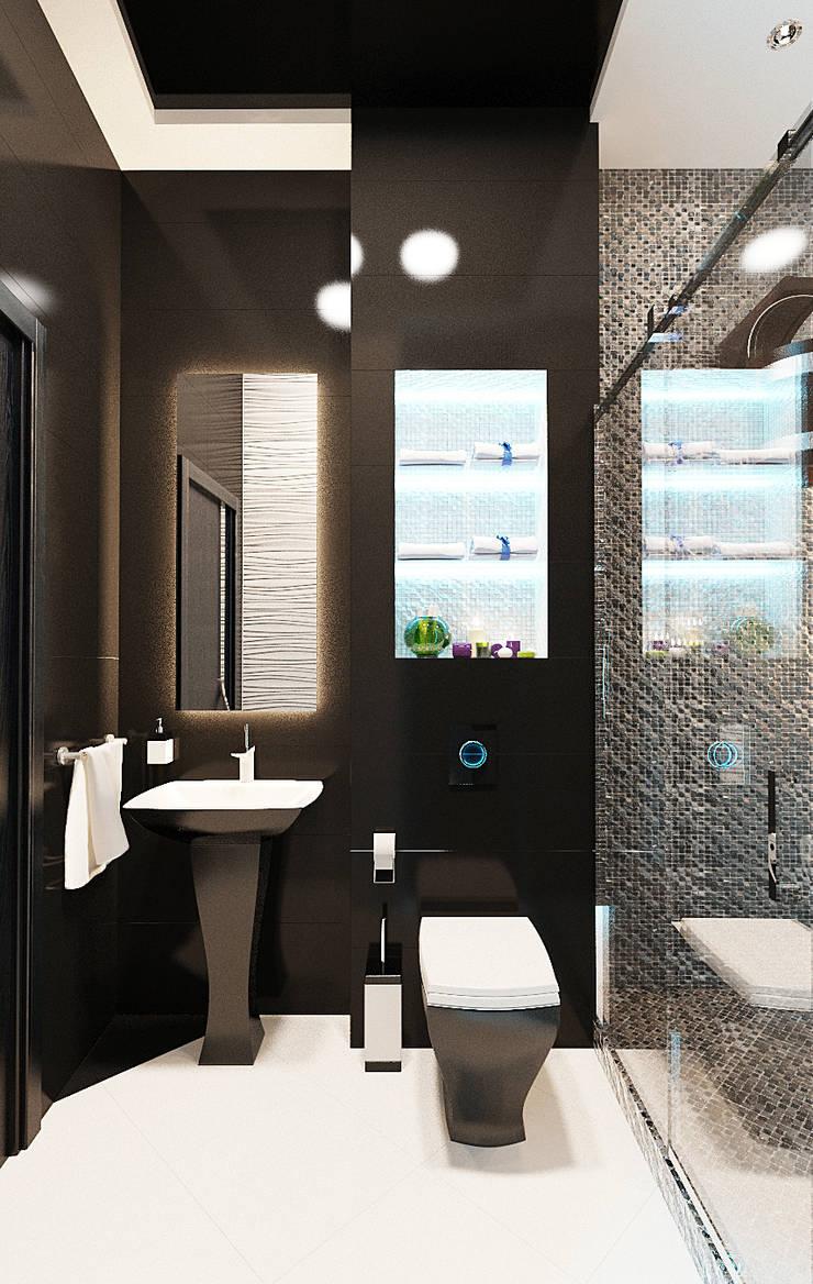 Ванная комната в стиле SPA салона: Ванные комнаты в . Автор – Студия дизайна Interior Design IDEAS, Модерн