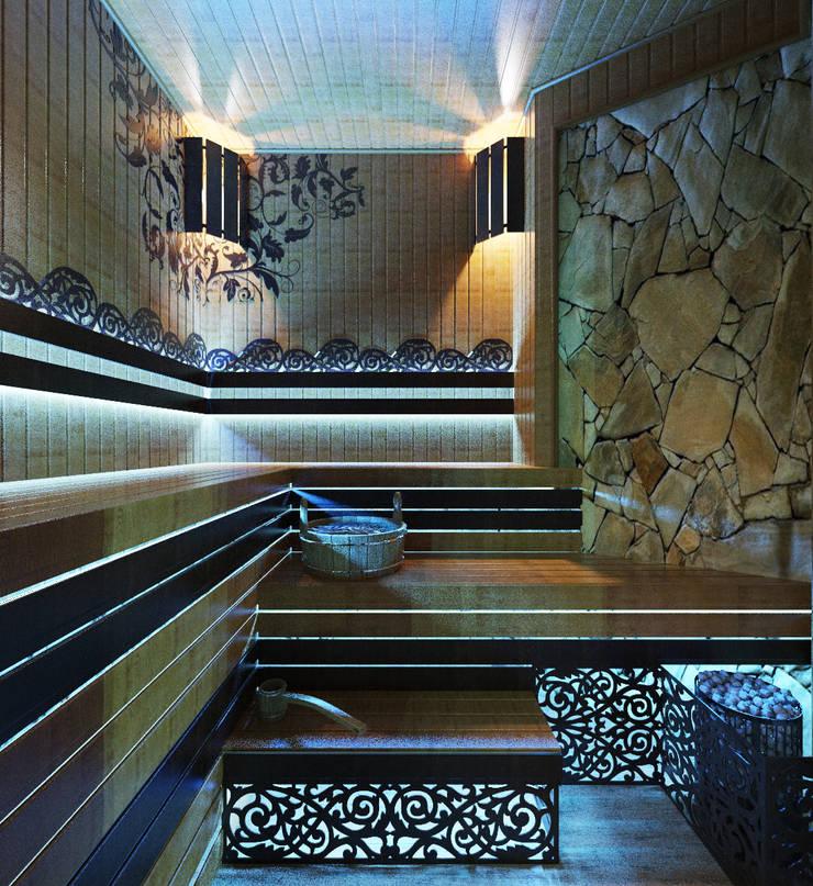Сауна в стиле SPA салона: Спа в . Автор – Студия дизайна Interior Design IDEAS, Модерн
