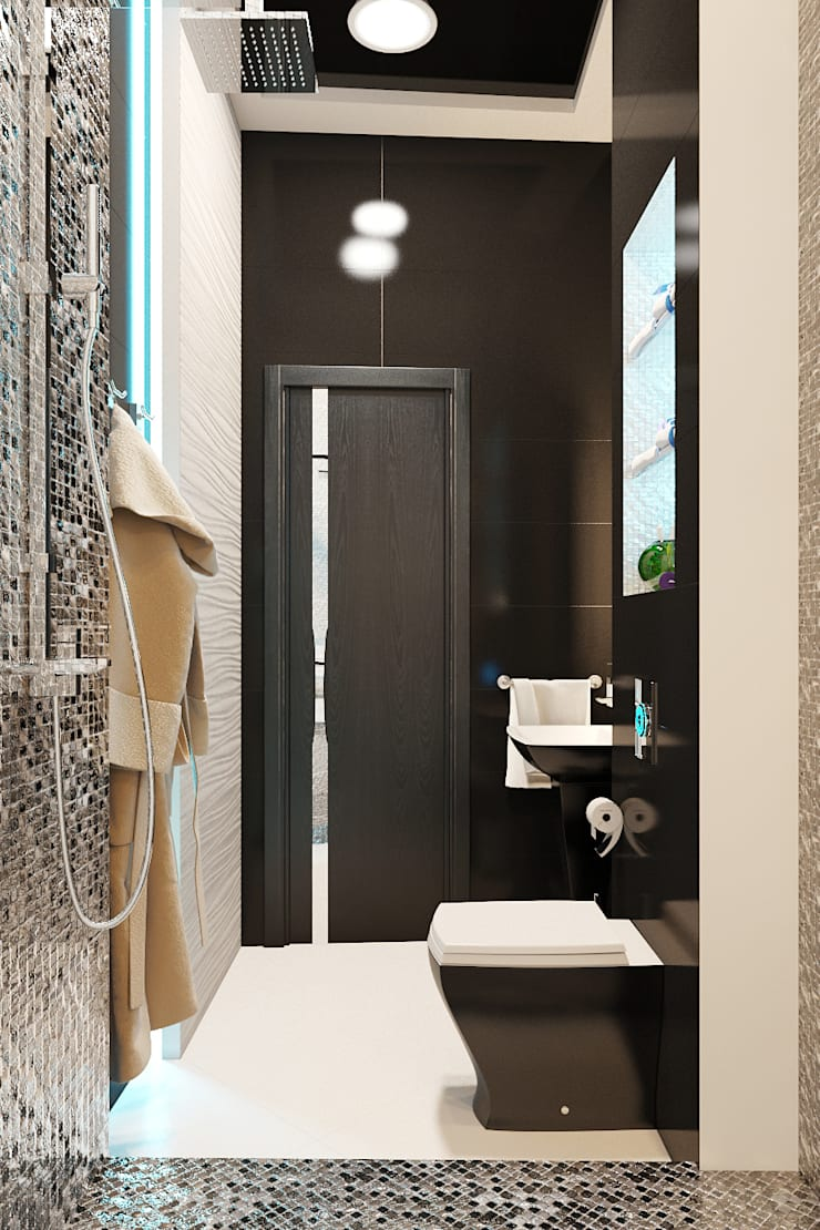 Baños de estilo moderno de Студия дизайна Interior Design IDEAS Moderno