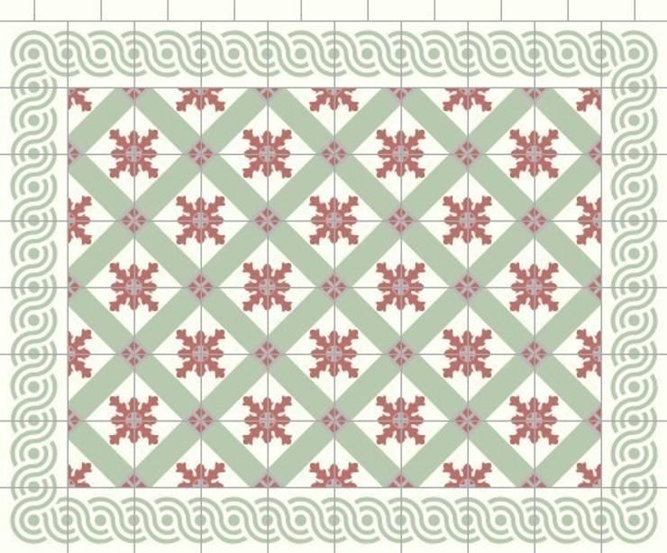 CARLOS - cementowe płtytki podłogowe: styl , w kategorii Ściany i podłogi zaprojektowany przez Kolory Maroka