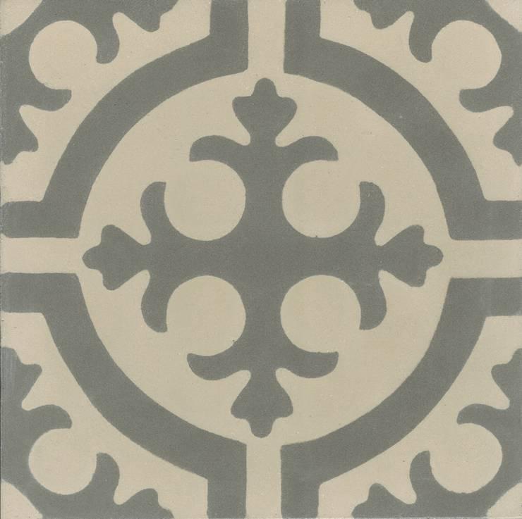 CARLITOS - cementowe płytki podłogowe: styl , w kategorii Ściany i podłogi zaprojektowany przez Kolory Maroka