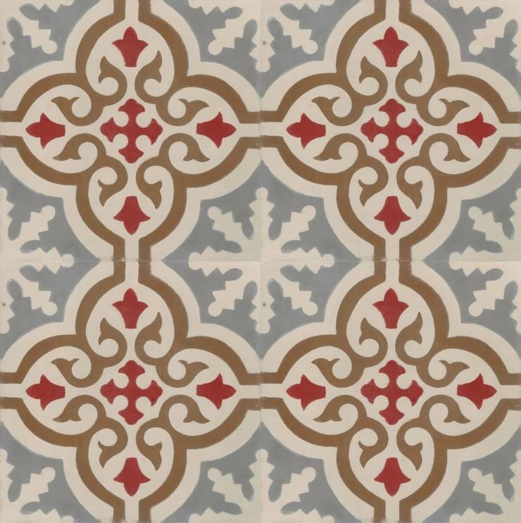 DARIO - cementowe płytki podłogowe: styl , w kategorii Ściany i podłogi zaprojektowany przez Kolory Maroka