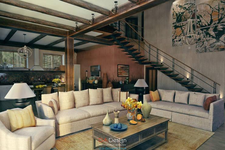 DA-Design: kolonyal tarz tarz Oturma Odası