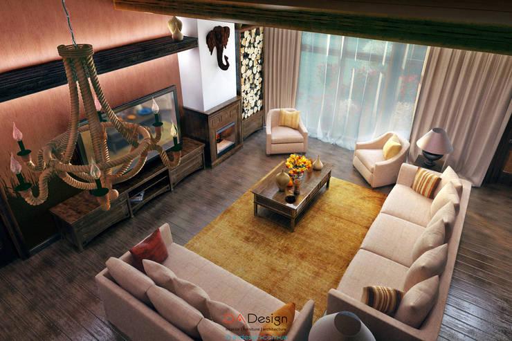 Colonian style: Гостиная в . Автор – DA-Design
