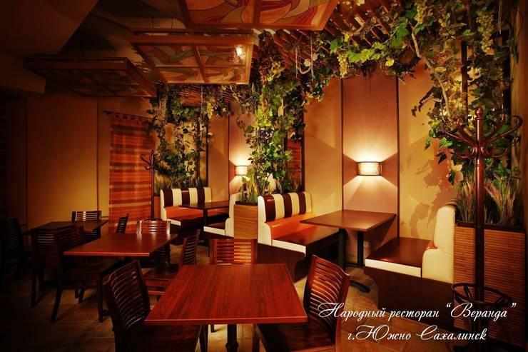 Народный ресторан «Веранда» в Южно-Сахалинске:  в . Автор – Eco wave studio