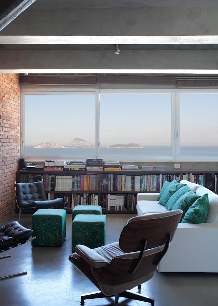 Vista estar: Salas de estar  por House in Rio