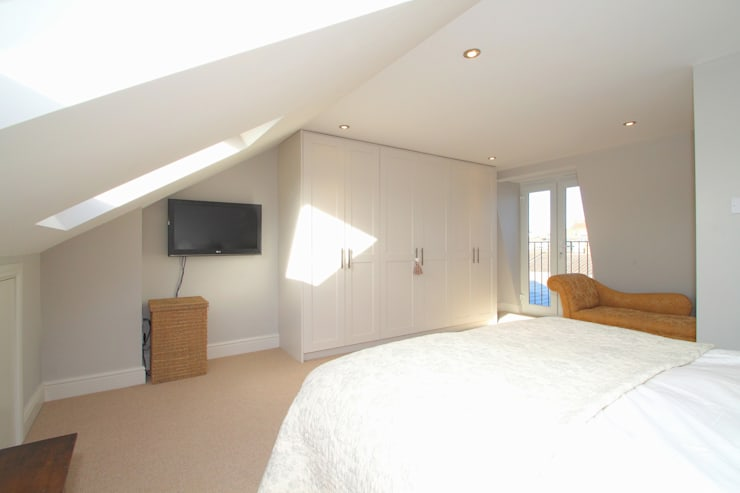 l-shaped dormer loft conversion balhaml-shaped dormer loft conversion balham:  Bedroom by nuspace