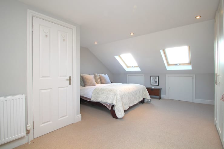 l-shaped dormer loft conversion balham:  Bedroom by nuspace