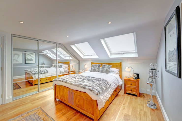 ​mansard loft conversion wandsworth: modern Bedroom by nuspace