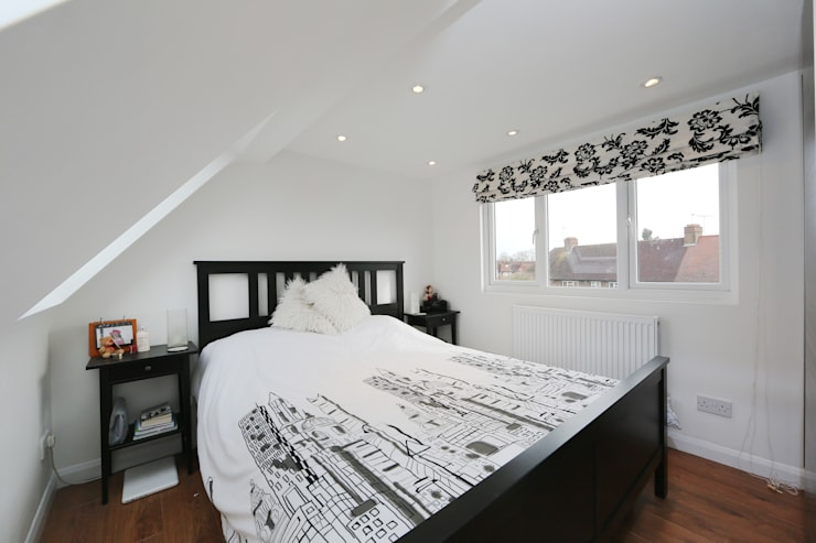 l-shaped dormer loft conversion richmond:  Bedroom by nuspace