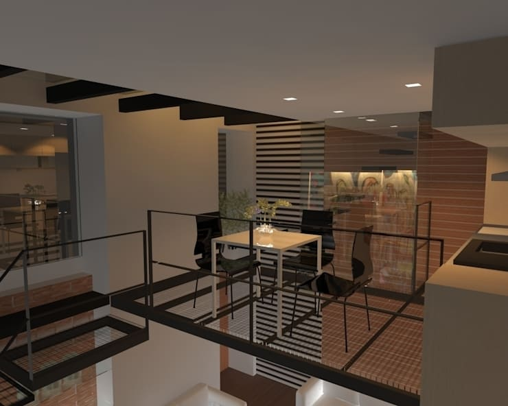 Dapur oleh gk architetti  (Carlo Andrea Gorelli+Keiko Kondo), Minimalis