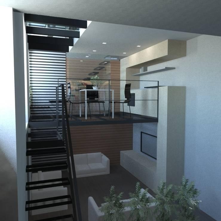 Ruang Keluarga oleh gk architetti  (Carlo Andrea Gorelli+Keiko Kondo), Minimalis