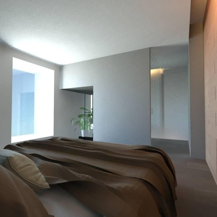 Kamar Tidur oleh gk architetti  (Carlo Andrea Gorelli+Keiko Kondo), Minimalis