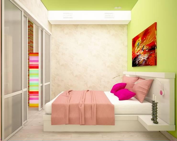 Яркая квартира в Сочи: Спальни в . Автор – Универсальная история