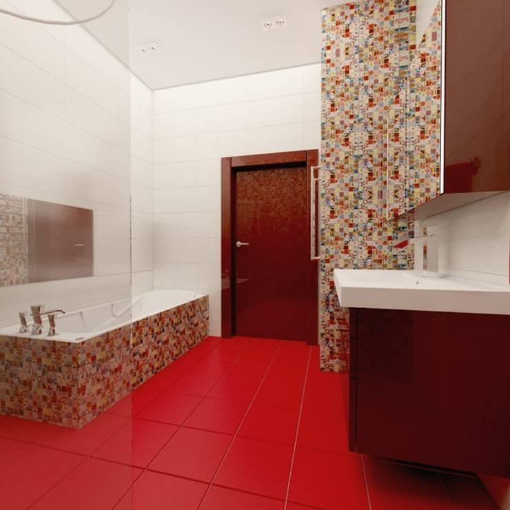 Яркая квартира в Сочи: Ванные комнаты в . Автор – Универсальная история