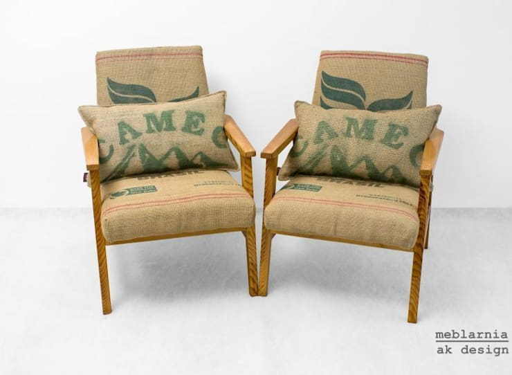 coffee chairs: styl , w kategorii Salon zaprojektowany przez ak design