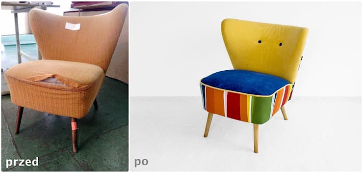 fotele po renowacji: styl , w kategorii  zaprojektowany przez ak design