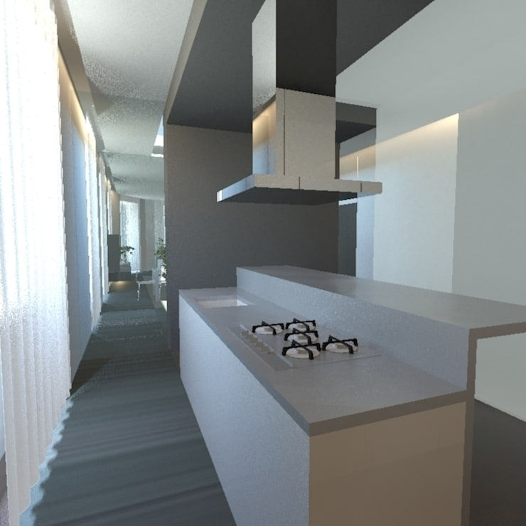 Cocinas de estilo minimalista de gk architetti (Carlo Andrea Gorelli+Keiko Kondo) Minimalista