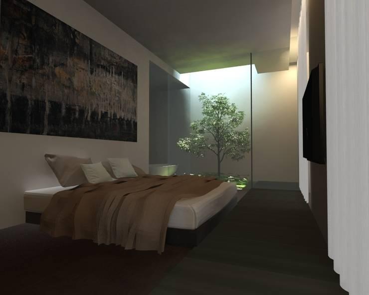 Dormitorios de estilo minimalista de gk architetti (Carlo Andrea Gorelli+Keiko Kondo) Minimalista