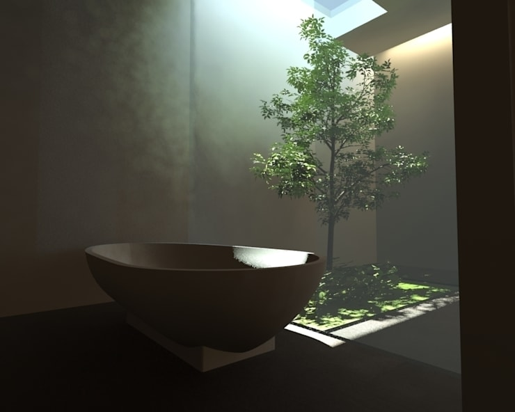 Baños de estilo minimalista de gk architetti (Carlo Andrea Gorelli+Keiko Kondo) Minimalista