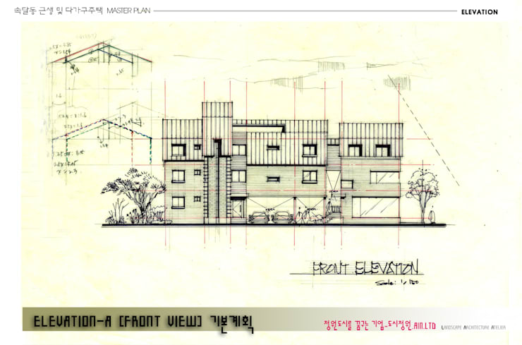 Front elevation: Urban Garden AIN.Ltd의  주택