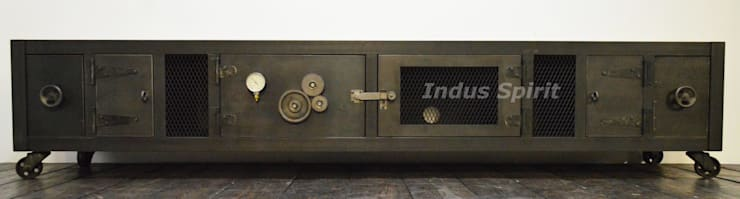 Creation Meuble Tv Industriel Xxl Par Indus Spirit Homify
