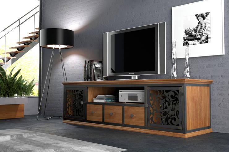 komoda VINTAGE RTV: styl , w kategorii Salon zaprojektowany przez John Carpenter INDUSTRIAL