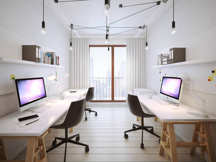 ofdesign Oskar Firek wilga apartment Kraków pracownia: styl , w kategorii Domowe biuro i gabinet zaprojektowany przez OFD architects