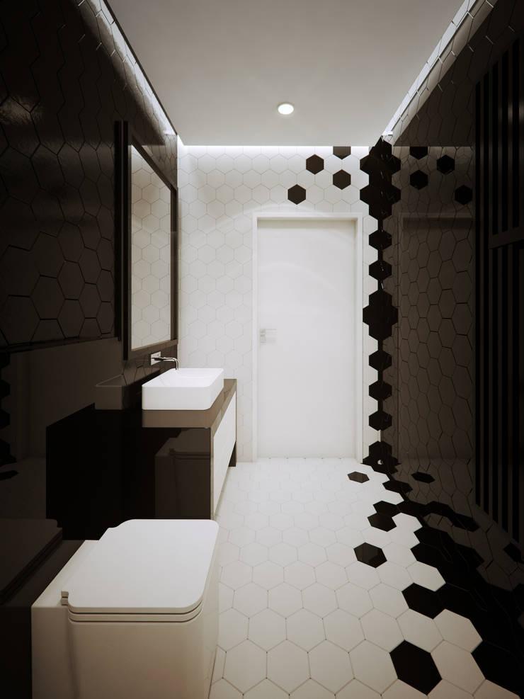 ofdesign Oskar Firek wilga apartment Kraków łazienka: styl , w kategorii Łazienka zaprojektowany przez OFD architects