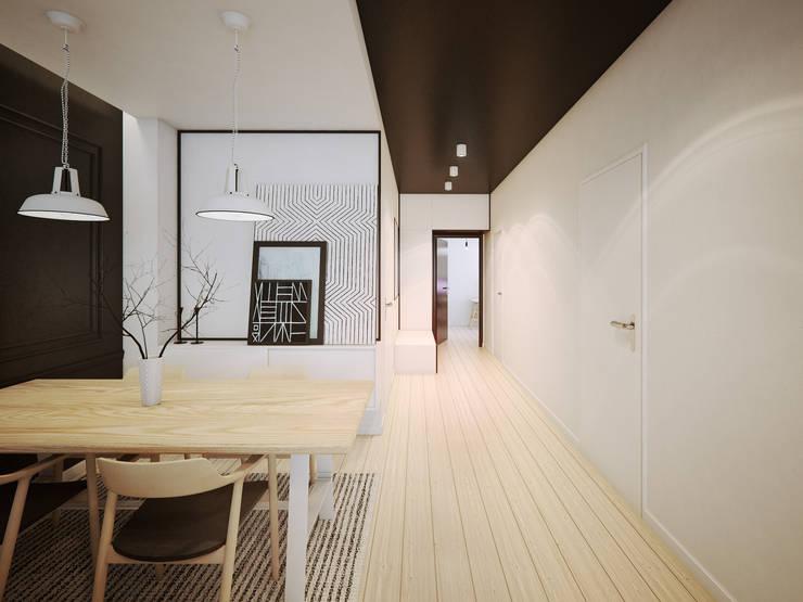ofdesign Oskar Firek wilga apartment Kraków jadalnia: styl , w kategorii Jadalnia zaprojektowany przez OFD architects