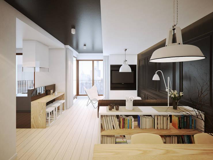 ofdesign Oskar Firek wilga apartment Kraków salon: styl , w kategorii Salon zaprojektowany przez OFD architects