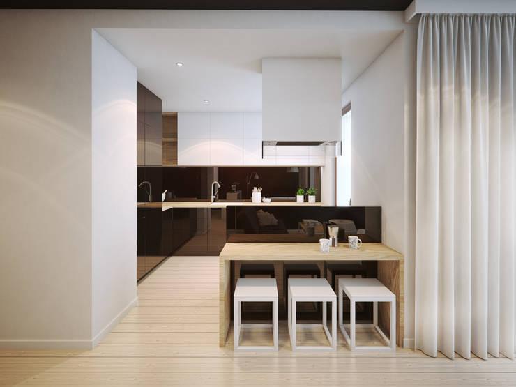 ofdesign Oskar Firek wilga apartment Kraków kuchnia: styl , w kategorii Kuchnia zaprojektowany przez OFD architects
