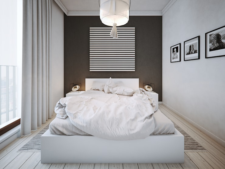 ofdesign Oskar Firek wilga apartment Kraków sypialnia: styl , w kategorii Sypialnia zaprojektowany przez OFD architects