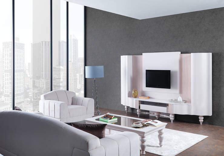 Trabcelona Design – ottoman yaşam odası : modern tarz , Modern