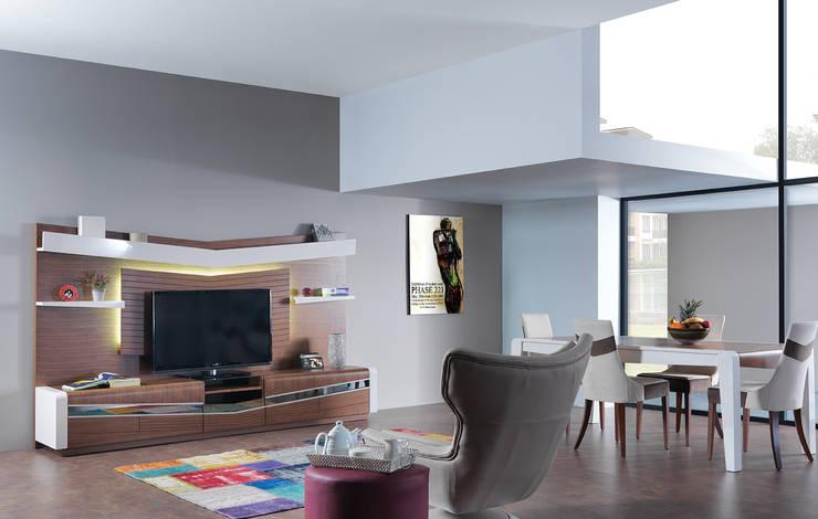 Trabcelona Design – vertu yaşam odası: modern tarz , Modern